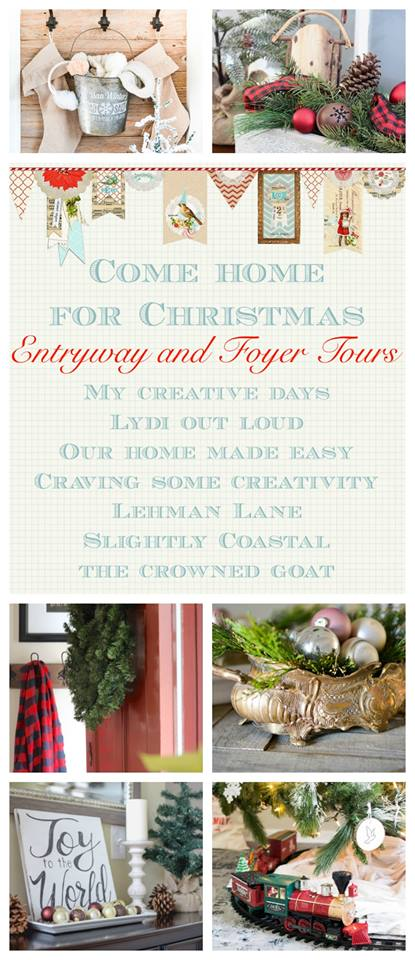 See how your favorite bloggers decorated their homes for Christmas with these Christmas home tours. Entryway and foyer tours. Housefulofhandmade.com