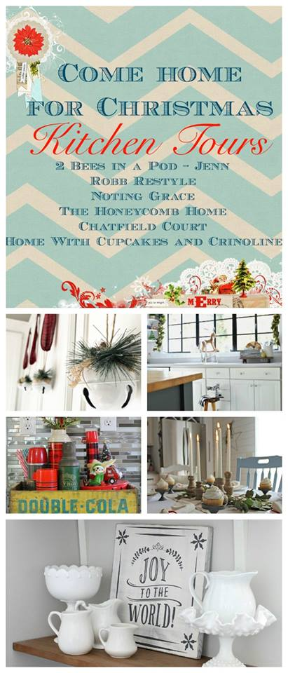 See how your favorite bloggers decorated their homes for Christmas with these Christmas home tours. Kitchen tours. Housefulofhandmade.com