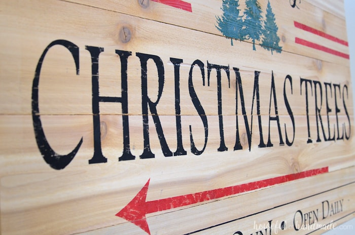 There is nothing better than a beautiful Christmas tree! So why not create a beautiful Christmas tree farm sign for your holiday decor. Housefulofhandmade.com