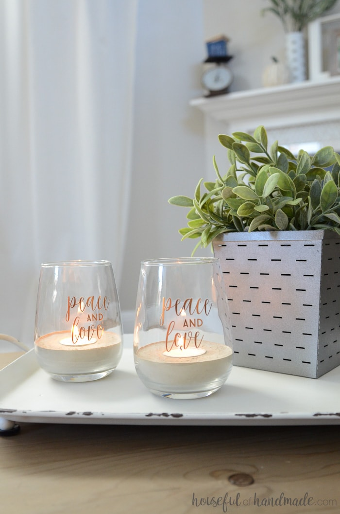 I love candles burning all over the house! These easy tea light candle holders are beautiful. Housefulofhandmade.com