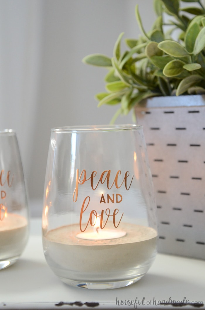 Turn any decorative jar into concrete tea light candle holders with this easy DIY. These decorative votives are perfect for adding a little sparkle to your home. Housefulofhandmade.com