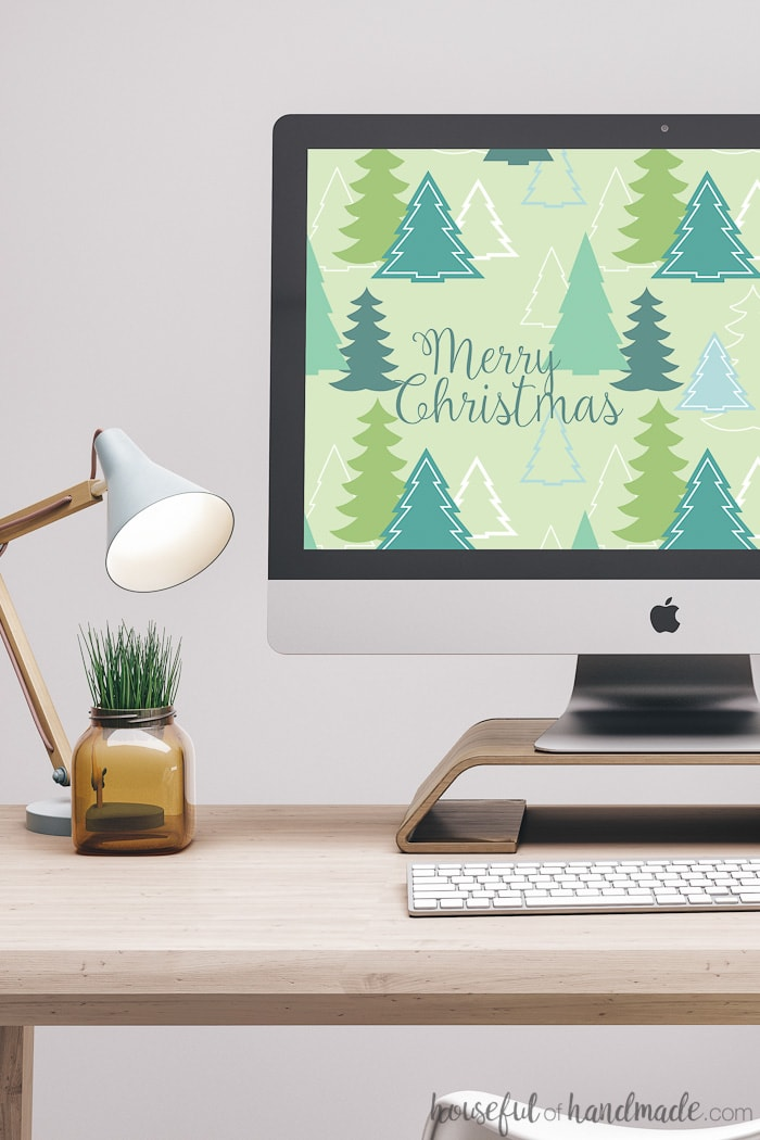 Download these free digital backgrounds for December today! This whimsical Christmas tree pattern is perfect to get you in the Christmas spirit. And the calendar option will keep you organized during the holiday craziness. Housefulofhandmade.com