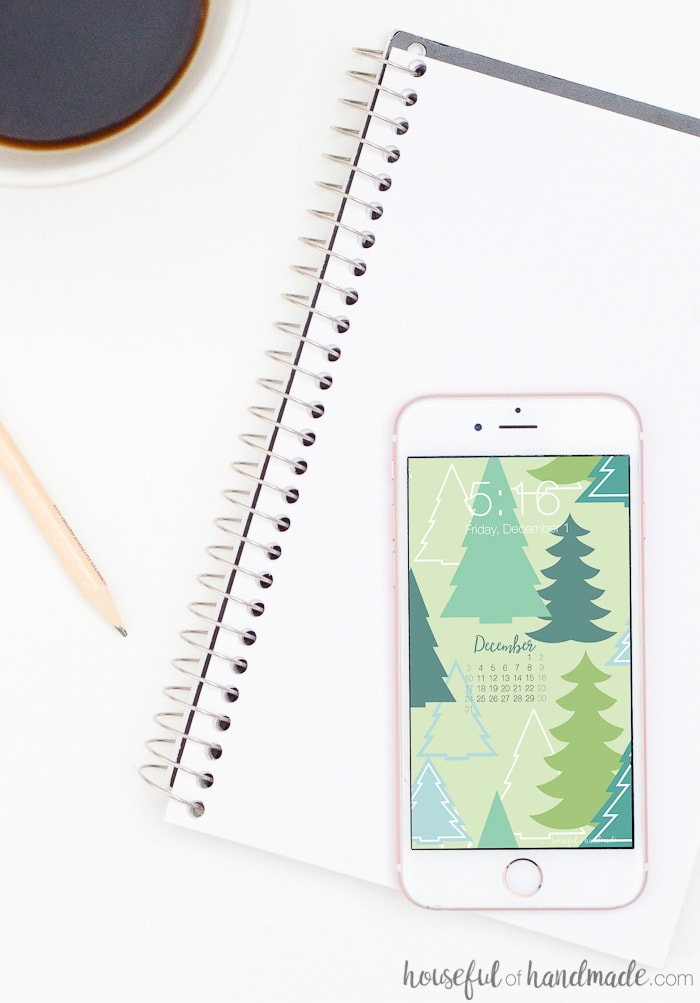 Stay organized this holiday season with these free digital backgrounds for December from Housefulofhandmade.com. I love the mini calendar on my iPhone home screen!