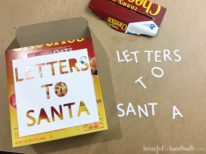I love this Letters to Santa Mailbox! Make a box look like punched metal with this trick. Housefulofhandmade.com