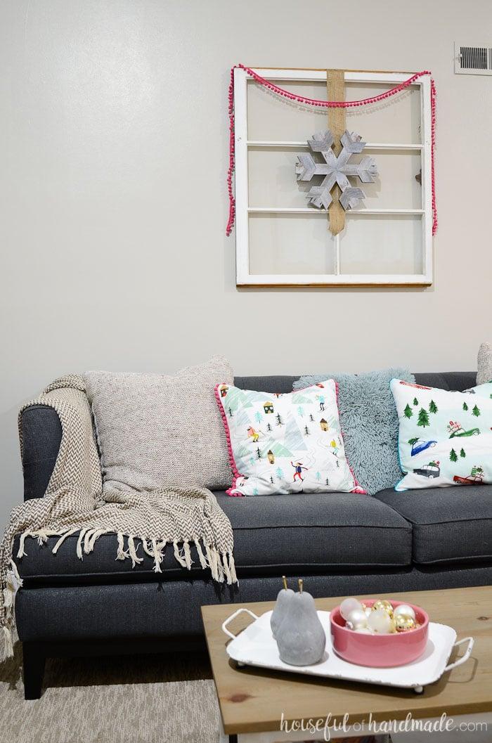 Create a cozy Christmas home with this rustic jewel tone Christmas decor ideas. Housefulofhandmade.com