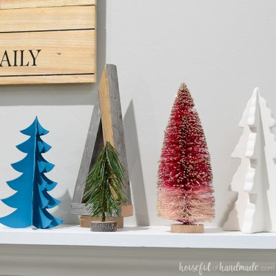 Christmas Tree Farm Holiday Mantel