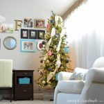 Check out our modern colorful farmhouse Christmas tree as part of the My Home Style Christmas tree blog hop. Housefulofhandmade.com
