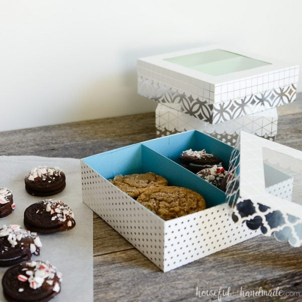 These cookie gift boxes are so great! They are perfect for gifting all the delicious homemade treats! Housefulofhandmade.com
