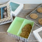 Fill these easy cookie gift boxes with Christmas treats for the perfect homemade Christmas gift. Get the free cut file or PDF template from Housefulofhandmade.com.