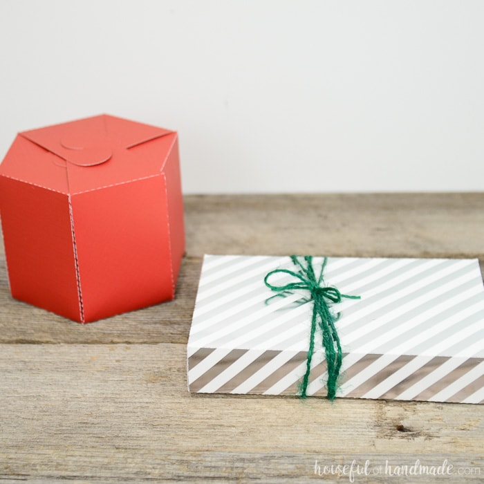 These little boxes hold big surprises inside! Creative new ways to wrap a gift card this year. Make your own gift card box with the free templates from Housefulofhandmade.com.