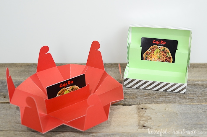 A gift card box is the perfect way to wrap a gift card. Don't let it get lost under the tree in a tiny gift card envelope, instead make a statement with these unique gift card holders. Housefulofhandmade.com