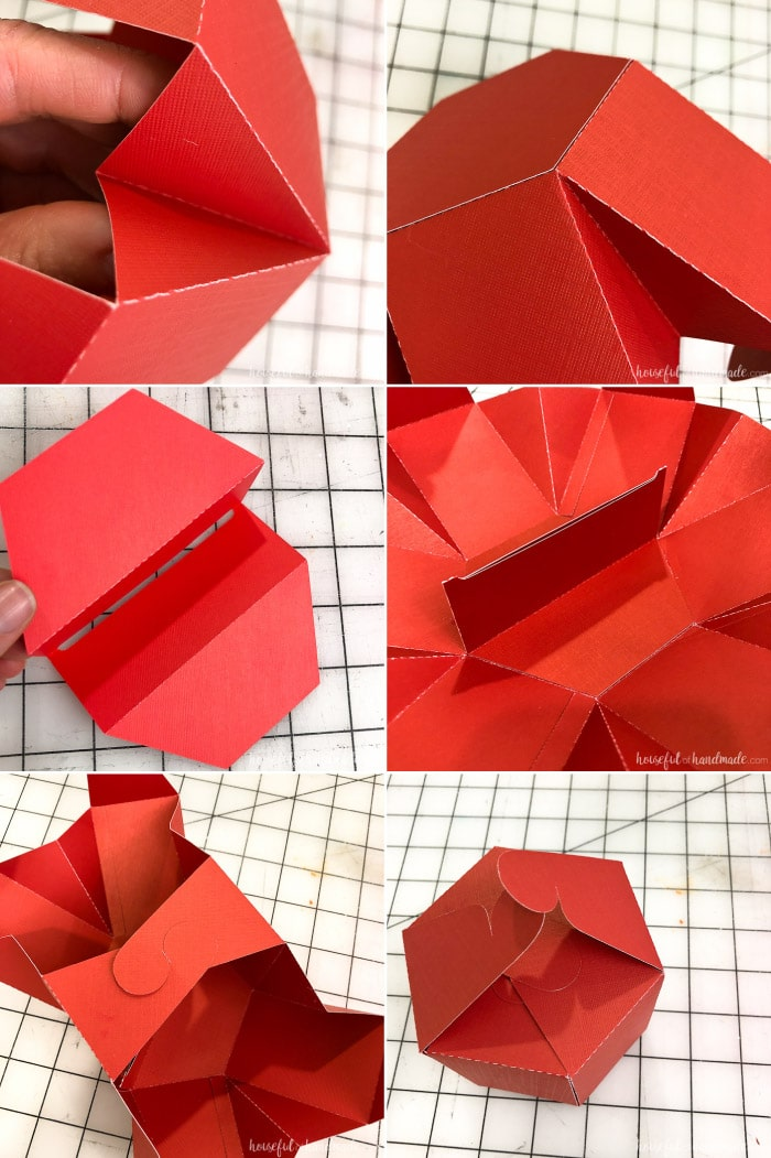 Create a hexagon gift card box with this free template. The Hexagon box opens up like a flower to reveal a pop-up gift card holder in the center. Housefulofhandmade.com