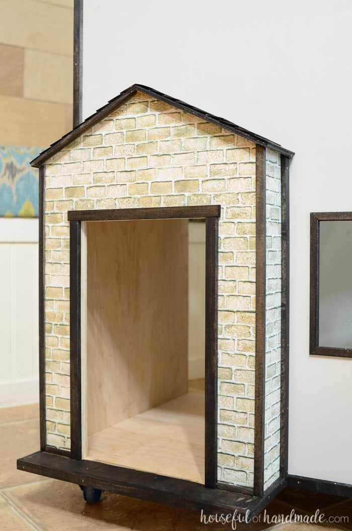 Turn a plywood dollhouse into a country cottage with these easy and budget friendly dollhouse exterior ideas. Housefulofhandmade.com