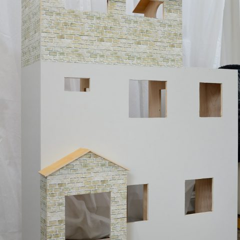 This is the perfect handmade gift idea for a girl. Build a Barbie dollhouse out of plywood. Housefulofhandmade.com