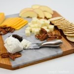 Create a beautiful wood and marble cheese board with this easy tutorial. Take a simple cheese plate to any party to wow the guests. Housefulofhandmade.com