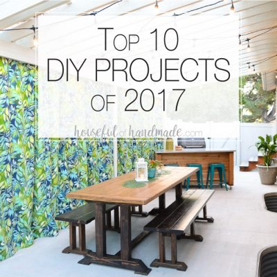 It's always fun to look back on the year with the top 10 DIYs of the year. A look at the most visited posts at Houseful of Handmade. You'll want to add these to your project list for the new year. Housefulofhandmade.com