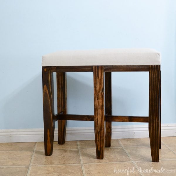 Upholstered Barstool Benches DIY