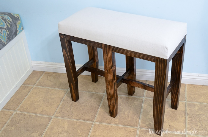 Excellent Upholstered Barstool Benches Diy Houseful Of Handmade Theyellowbook Wood Chair Design Ideas Theyellowbookinfo