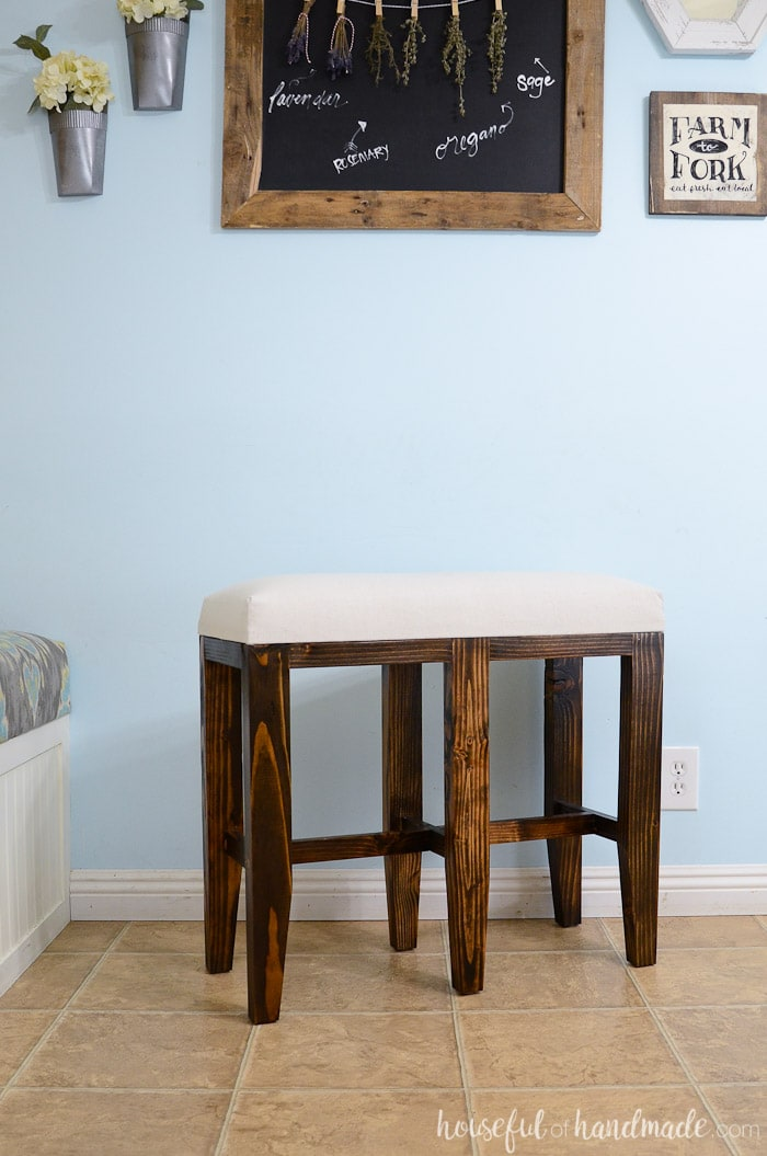Upholstered Barstool Benches Diy A Houseful Of Handmade