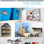 Use these amazing DIYs to Organize your home this year. There are lots of DIY organization ideas to help you get organized in the kitchen, closet, office and more. If getting and staying organized is one of your goals, these DIYs to organize the home will help you finally do it! Housefulofhandmade.com