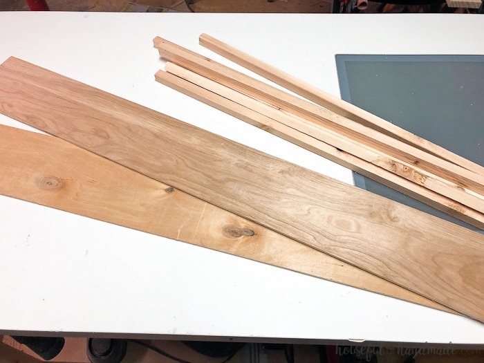 Using scrap wood, we built an easy dryer vent cover for our laundry room remodel. Housefulofhandmade.com