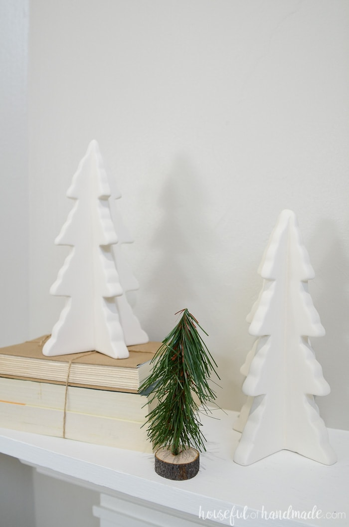 Transition Christmas to winter with neutral colored Christmas decor. Housefulofhandmade.com