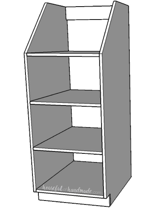Step 4 for the stackable laundry basket storage build plans. Housefulofhandmade.com