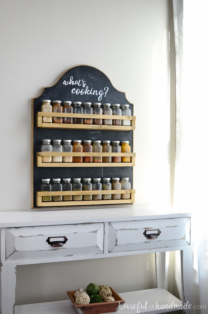 Elegant This Wooden Spice Rack Is The Perfect Way To Organize All Your Spices. The  Hanging Spice Rack Keeps The Spices At Your Finger Tips While You Cook And  Acts ...