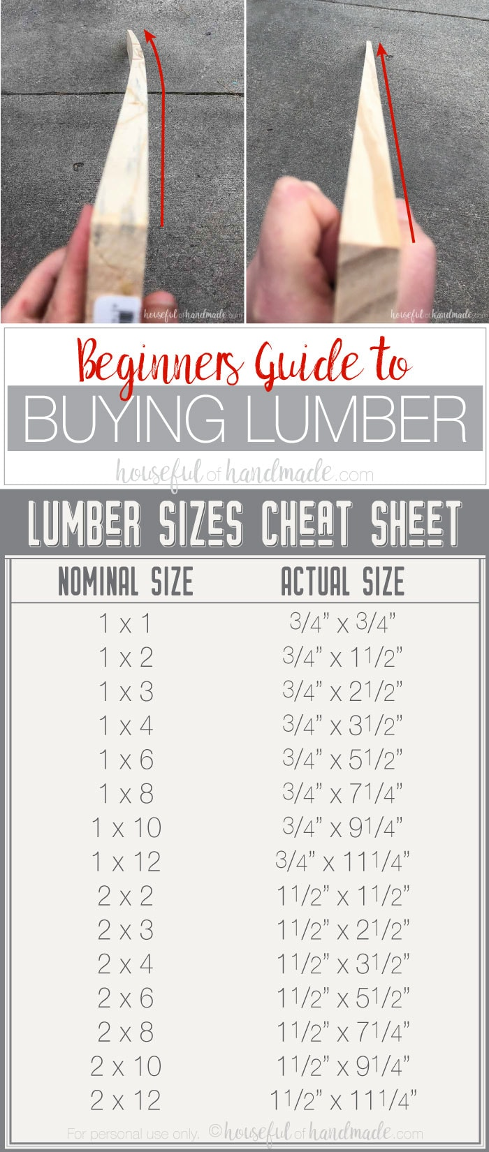 If you want to get started with woodworking, there is a lot to know. The beginners guide to buying lumber will help you pick our the right wood for your project and budget. How do you know what kind to buy for your project? And how do pick the best boards? Why are some boards so much more expensive then other ones? Don't worry, this how to buy lumber guide will answer all your questions. Housefulofhandmade.com