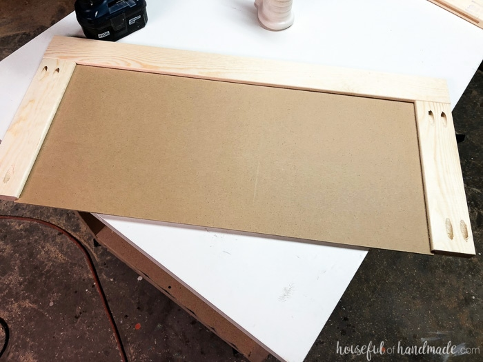 """Build cabinet doors with a 1/4"""" panel inserted in a groove on 1x3 rails and stiles. Housefulofhandmade.com"""