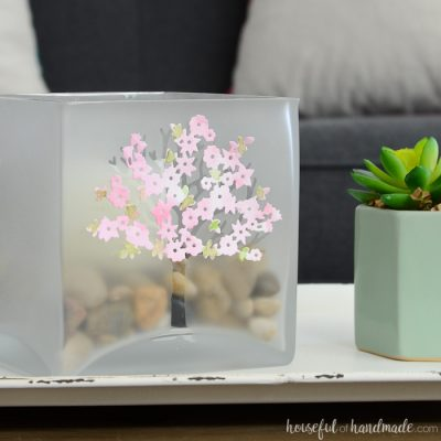 Large Glass Candle Holder for Spring