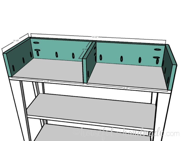 Small console table build step 4: building the drawer area. Housefulofhandmade.com