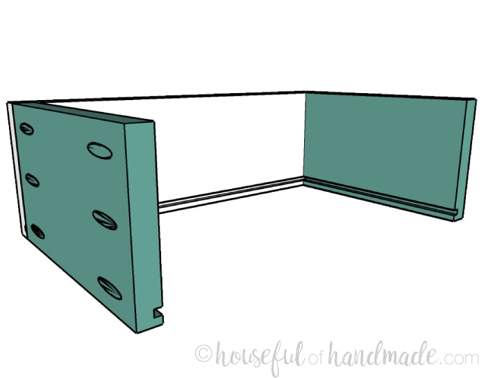 Small console table plans step 8: building the drawer boxes. Housefulofhandmade.com