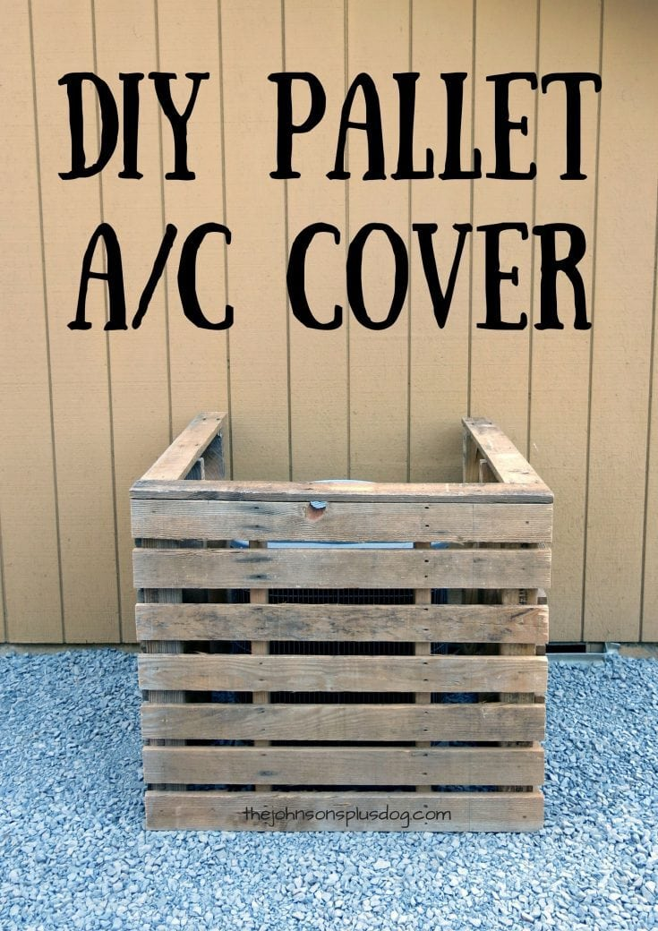 DIY Pallet AC Unit Cover You Can Make In Just 45 Minutes