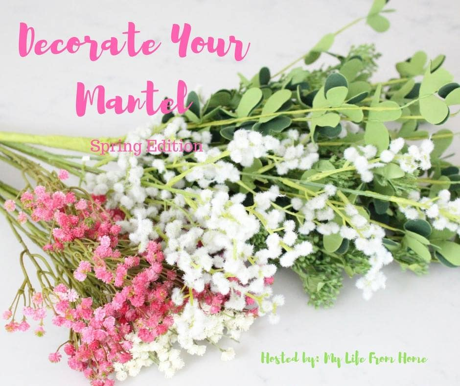 Decorate your mantel for spring with this simple mantel decor from Housefulofhandmade.com.