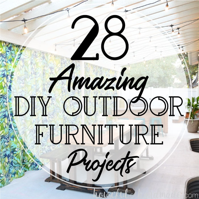 Get your yard ready for spring with these DIY outdoor furniture projects. Create the perfect backyard oasis with DIY patio furniture, DIY outdoor benches, patio table plans and so much more. These 28 DIY outdoor furniture projects will have you enjoying the sunshine soon.