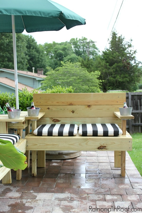 Create Seating For You And A Crowd With The Ultimate DIY Outdoor Sectional  From Rain On