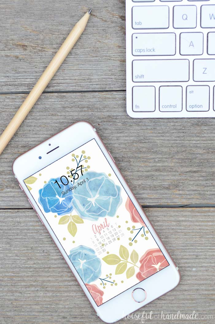 Get ready for gardening season by decorating your screens with spring florals. These free digital backgrounds for April are the perfect way to enjoy spring no matter where you are. Housefulofhandmade.com