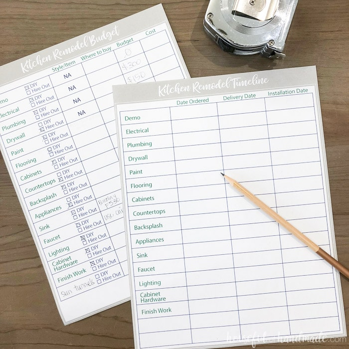 Kitchen Planning Tool: Free Printable Kitchen Planning Tools
