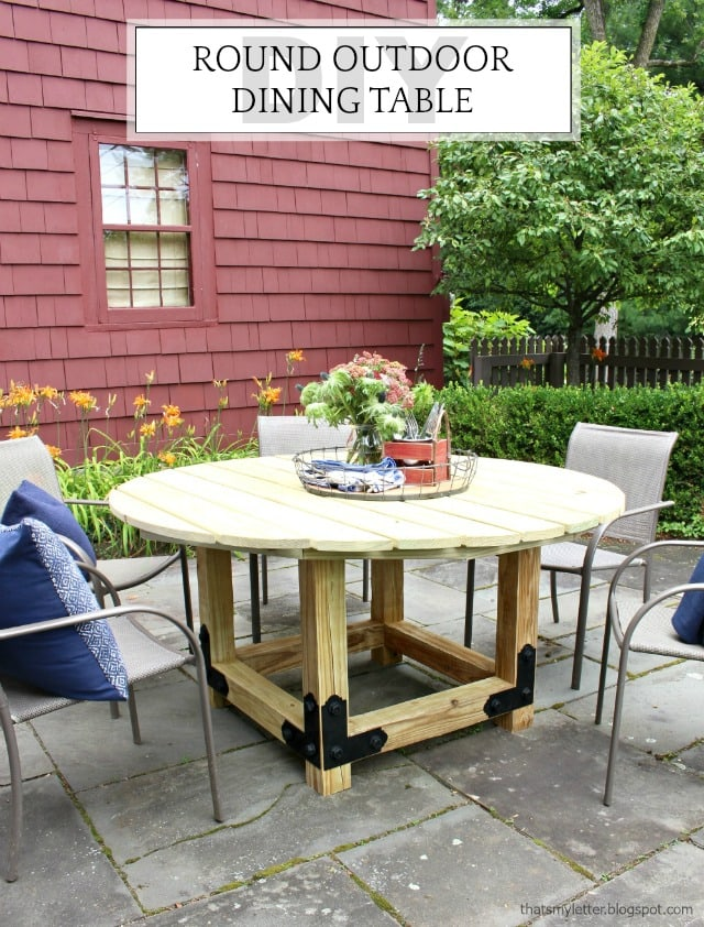 For Smaller Patios, Round Tables Give Plenty Of Eating Space Without Taking  Up Too Much
