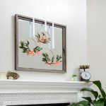 Get ready for warmer weather with this simple mantel decor for spring. Even if spring has not come to your town, you can bring a little spring inside with these easy decorating tips. This simple mantel decor for spring uses soft colors and florals to brighten up your decor.
