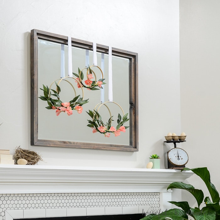 18 Spring Decor Ideas: Simple Mantel Decor For Spring