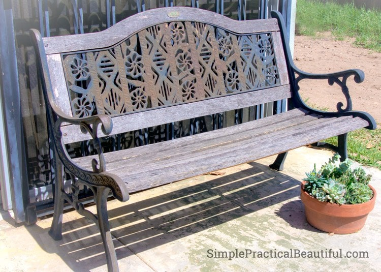 I don't know if I would have picked up this old park bench, but luckily Simple Practical Beautiful did! She say the beauty in it and brought it back to life. And she shares How to Reinforce an Old Park Bench so you can too.