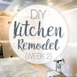 Have you ever wanted to do a DIY kitchen remodel? We are sharing every step of the process as we gut and rebuild our kitchen while staying on budget. Follow along as we completely transform our kitchen in just 6 weeks. Housefulofhandmade.com