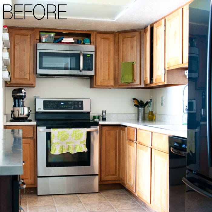 We Are Remodeling Our 1979 Oak Kitchen To Make It Brighter. See Our Budget  Farmhouse