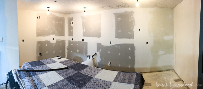 It's week 3 of our budget kitchen remodel. We are finally ready to add things to the new walls. See the full progress including totals spent so far at Housefulofhandmade.com.