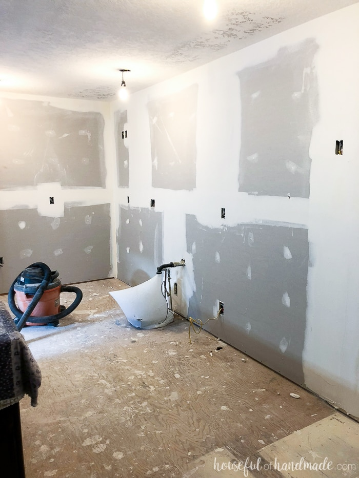 The drywall is done and now we can start building our budget kitchen. See the week 3 progress report and budget breakdown. Housefulofhandmade.com