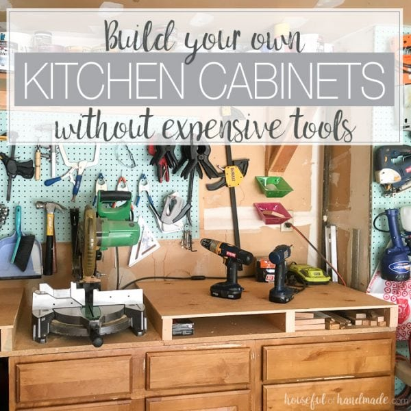 #2 most popular DIY post was how to build beautiful kitchen cabinets with some inexpensive basic tools.