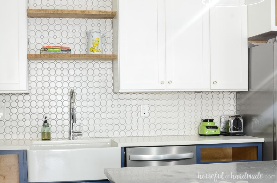 budget farmhouse kitchen remodel reveal almost houseful of