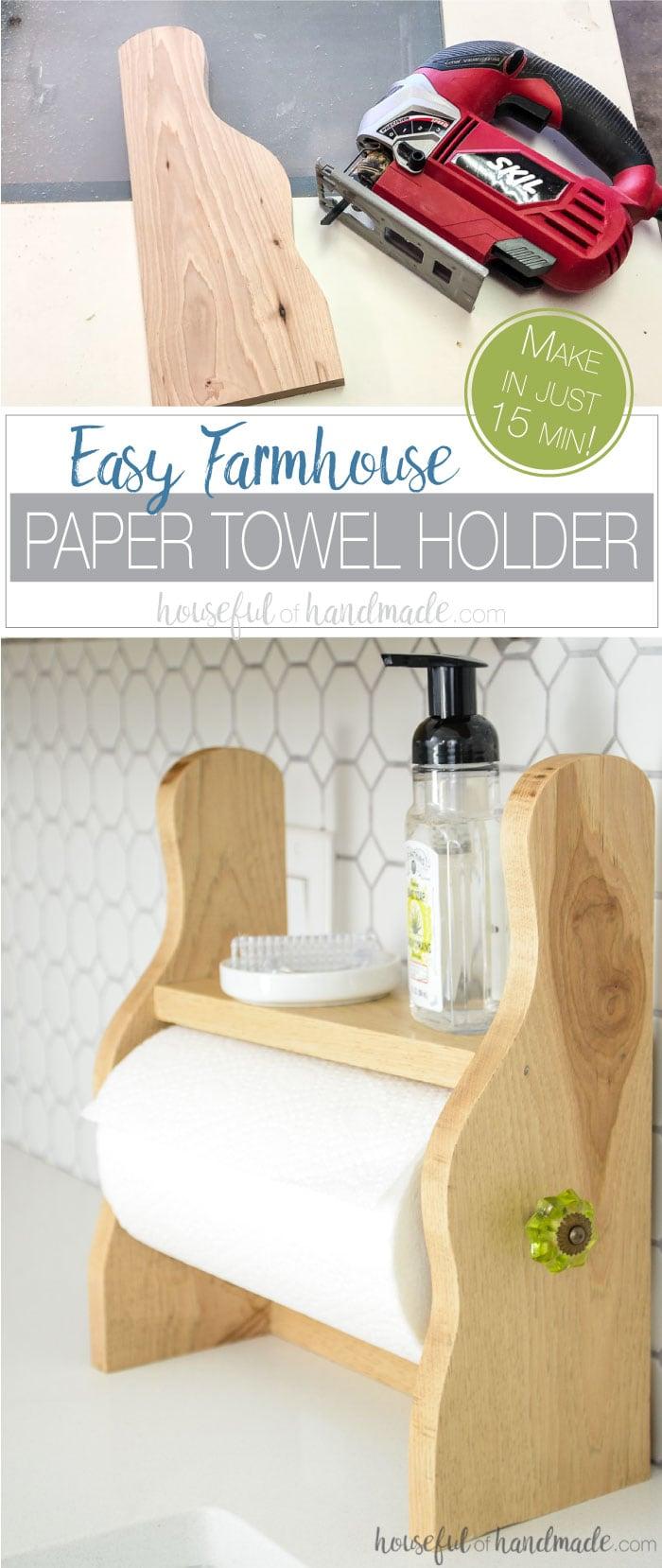 Farmhouse Paper Towel Holder Diy Houseful Of Handmade